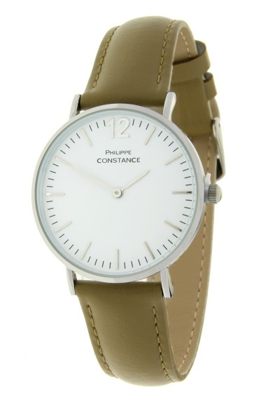 "Philippe Constance ""Medium-Wowlichious"" leather-zilver-khaki"