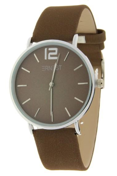 Ernest horloge Silver-Cindy-FW18 mocca
