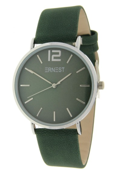 Ernest horloge Silver-Cindy-FW18 donkergroen