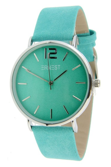 Ernest horloge Silver-Cindy-SS19 turquoise
