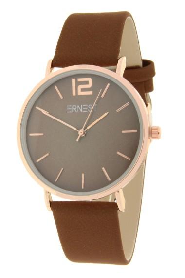 Ernest horloge Rosé-Cindy FW19 lichtbruin