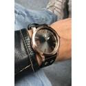"Ernest horloge ""Rosé-Brixton medium"" zwart"