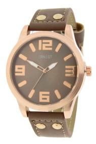 """Ernest horloge """"Rosé-Brixton medium"""" bruin"""
