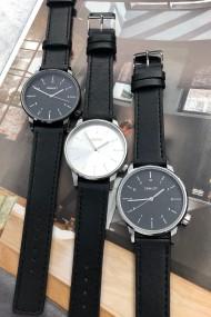 "Ernest horloge ""New-Elegance"" zwart-zilver-zwart"