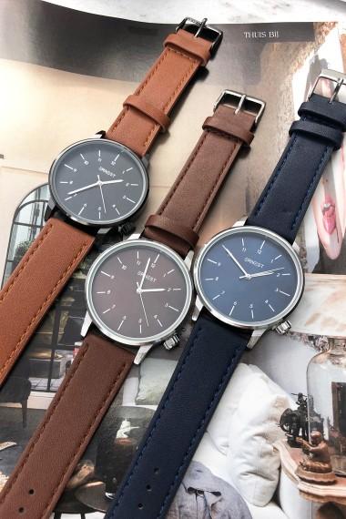 "Ernest horloge ""New-Elegance"" bruin-zilver-bruin"