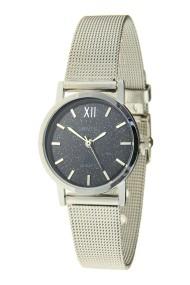 "Ernest horloge ""Holly"" zilver-glitter-zwart"