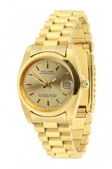 """Philippe Constance """"Large Gold"""" plain gold no numbers"""