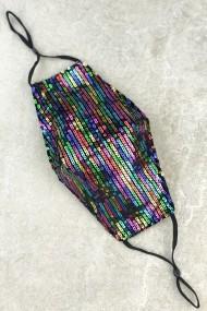 """mondkapje """"M500"""" paillets multicolor"""