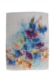 """Sjaal Fleur"""" blauw"""
