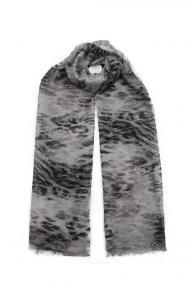 """Sjaal Faded Leopard"""" zwart"""