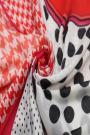 "Sjaal ""Dots & Pied de Poule"" rood"