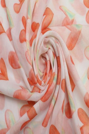 "Sjaal ""Loving Hearts"" pink"