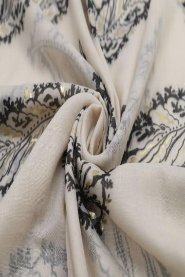 "Sjaal ""Feathers"" taupe"