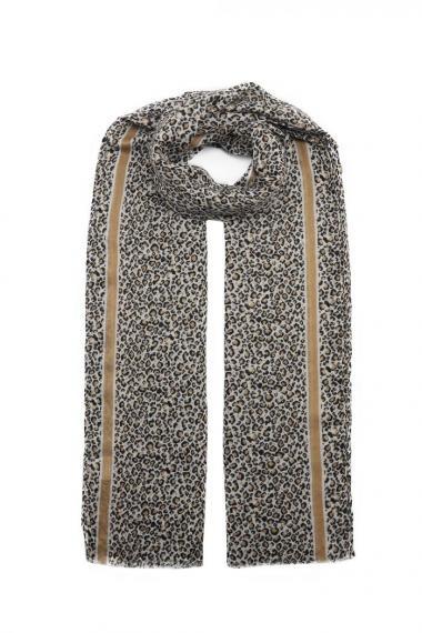 "Sjaal ""Mini Leopards"" taupe-taupe"