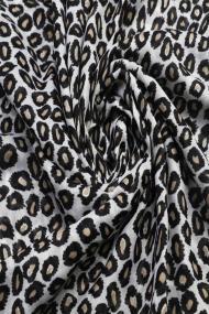 """Sjaal """"Gold Leopards"""" zwart-wit"""