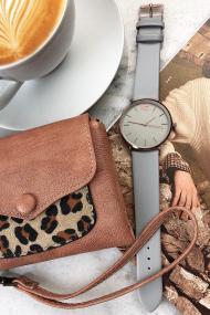 Ernest horloge Rosé-Cindy SS20 lichtgrijs