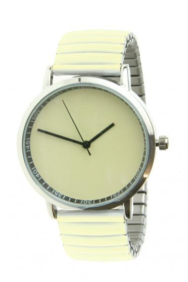 "Ernest horloge ""Fancy Plain"" vanille"