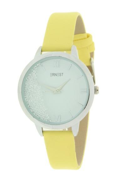 """Ernest horloge """"Krystal"""" geel"""