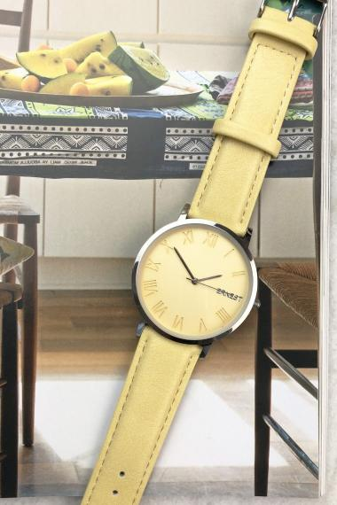 "Ernest horloge ""Aspasia"" mostard"