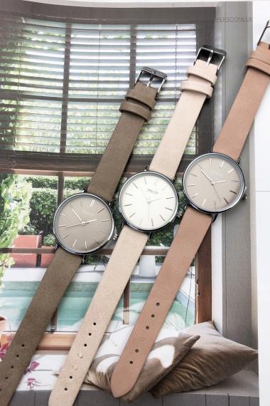 Ernest horloge Silver-Cindy-Medium SS20 taupe