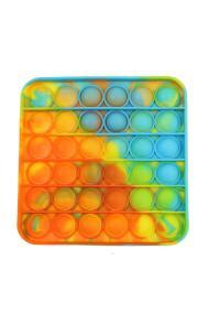 "POPIT FIDGET ""Messy SQUARE"" geel-oranje-blauw"