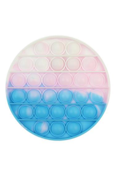 """POPIT FIDGET """"Messy Round"""" wit-pink-blauw"""