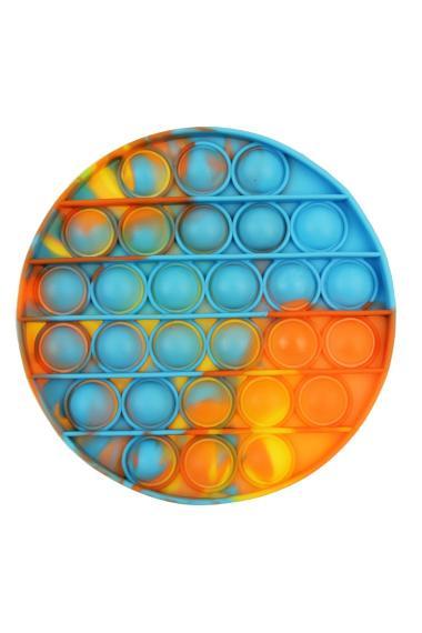 "POPIT FIDGET ""Messy Round"" geel-oranje-blauw"