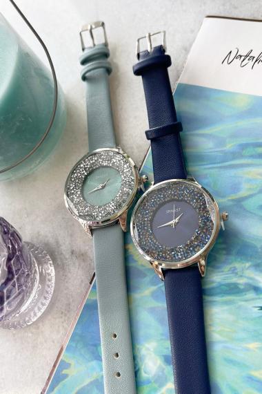 "Ernest horloge ""Tiarah"" ijsblauw"