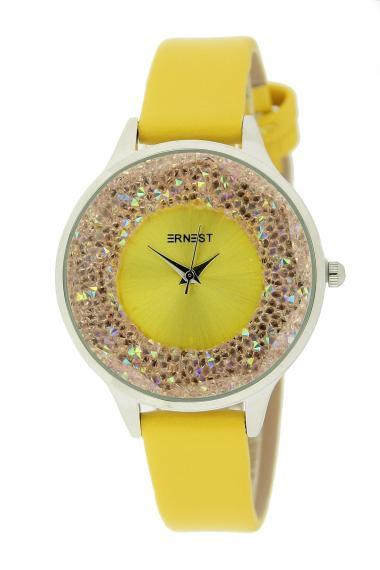 "Ernest horloge ""Tiarah"" geel"