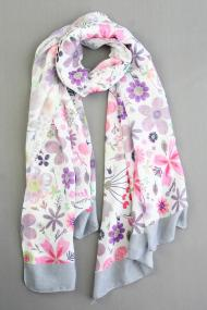 "Sjaal ""Xenna-Flower"" grijs"