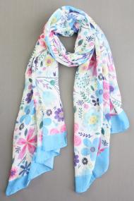 "Sjaal ""Xenna-Flower"" blauw"