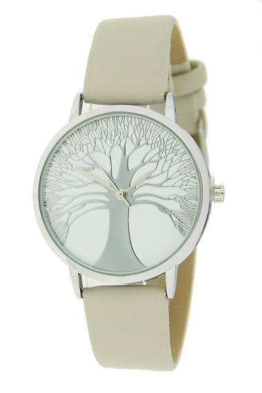 "Ernest horloge ""Tree Of Life"" lichtgrijs"