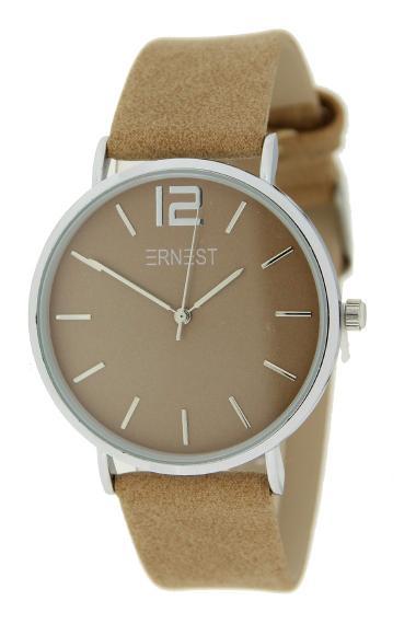 Ernest horloge Silver-Cindy SS21 camel
