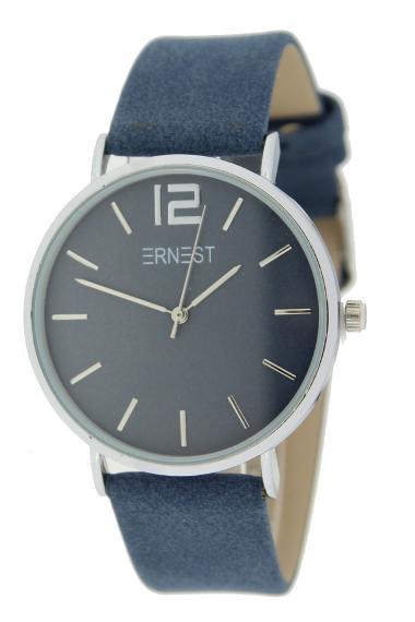 Ernest horloge Silver-Cindy SS21 donkerblauw