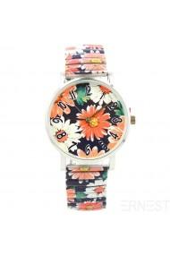 "Ernest horloge ""Chrysant"" donkerblauw"