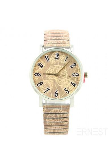 """Ernest horloge """"Leaves"""" taupe"""
