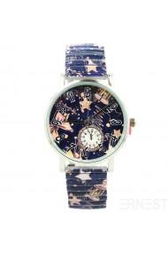 "Ernest horloge ""Time"" donkerblauw"
