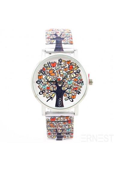 "Ernest horloge ""Tree of Books"" wit"