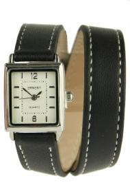 """Ernest horloge """"Double Mini Wrap"""" zwart"""