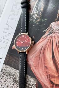 "Ernest horloge ""Rosé-Pippa"" zwart"