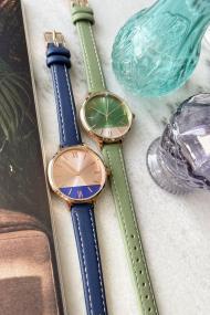 "Ernest horloge ""Rosé-Pippa"" donkerblauw"