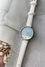 "Ernest horloge ""Silver-Pippa"" wit"