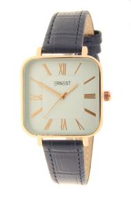 "Ernest horloge ""Croco-Square"" donkerblauw"