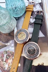 """Ernest horloge """"Grace-Glitter"""" donkergroen"""