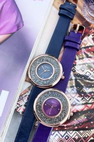 """Ernest horloge """"Grace-Glitter"""" donkerblauw"""