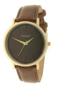 """Ernest horloge """"Goldy Gwen"""" bruin"""