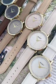 """Ernest horloge """"Goldy Gwen"""" licht taupe"""