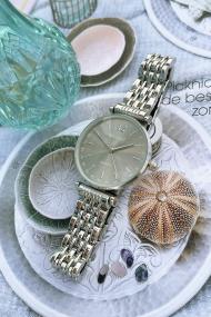 """Ernest horloge """"Tatum"""" zilver-grijs"""