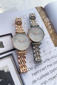 """Ernest horloge """"Tatum"""" bi-color rosé-zilver"""