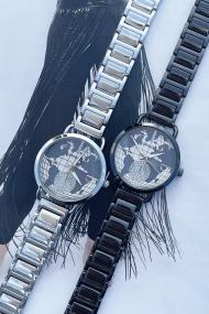 "Ernest horloge ""Rana"" zwart"